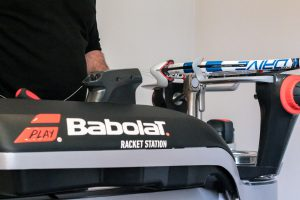 Top-of-the-range Babolat stringing machines are used